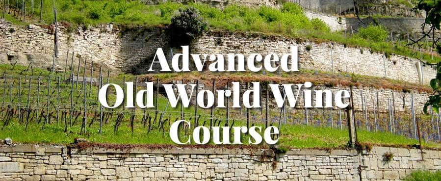 advanced wine course old world