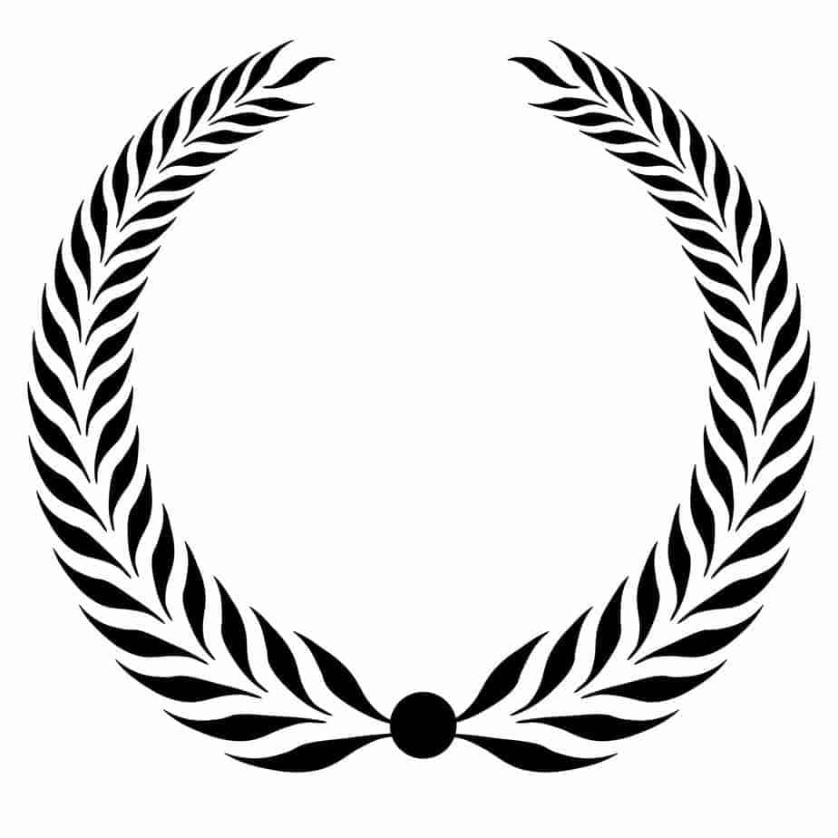 laurel wreath clipart black - Wine Reviews and Blog