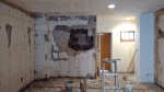 stripping plaster and fixing walls 1
