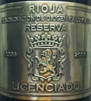 Burgo Viejo Licenciado Rioja Reserva 2008