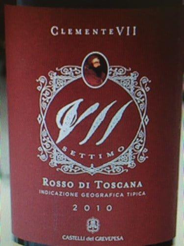 Castelli del Grevepesa Rosso de Toscana Clemente VII 2010