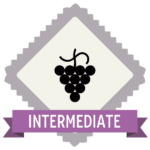 "Badge icon ""Grape (3944)"" provided by Paulo Volkova, from The Noun Project under Creative Commons - Attribution (CC BY 3.0)"