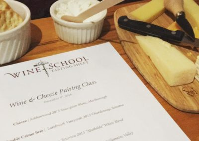 Wine and Cheese Tasting Sheet