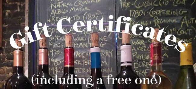 WINE GIFT CERTIFICATE
