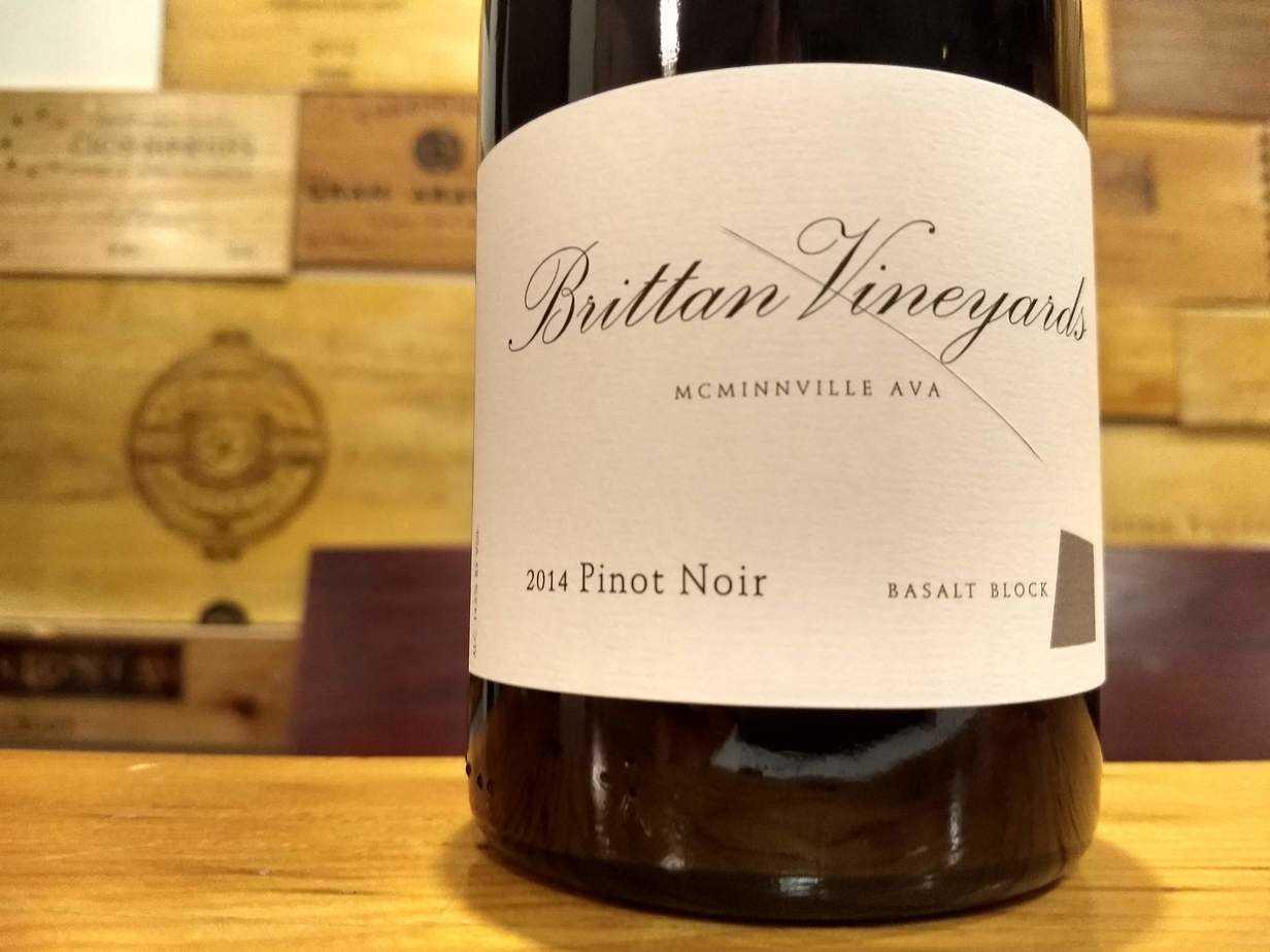 Brittan Vineyards 2014 Basalt Block Pinot Noir, McMinnville
