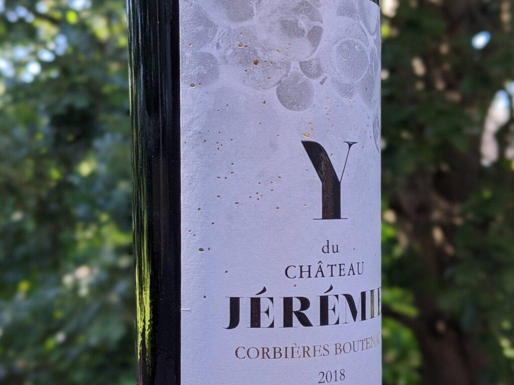 """Château Jérémie 2017 """"Y""""  Corbières Boutenac"""