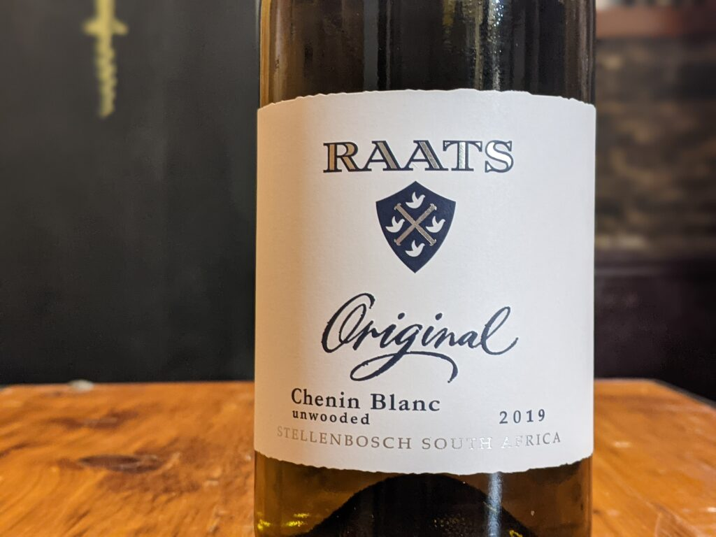 "Raats 2019 ""Unwooded"" Chenin Blanc Stellenbosch"