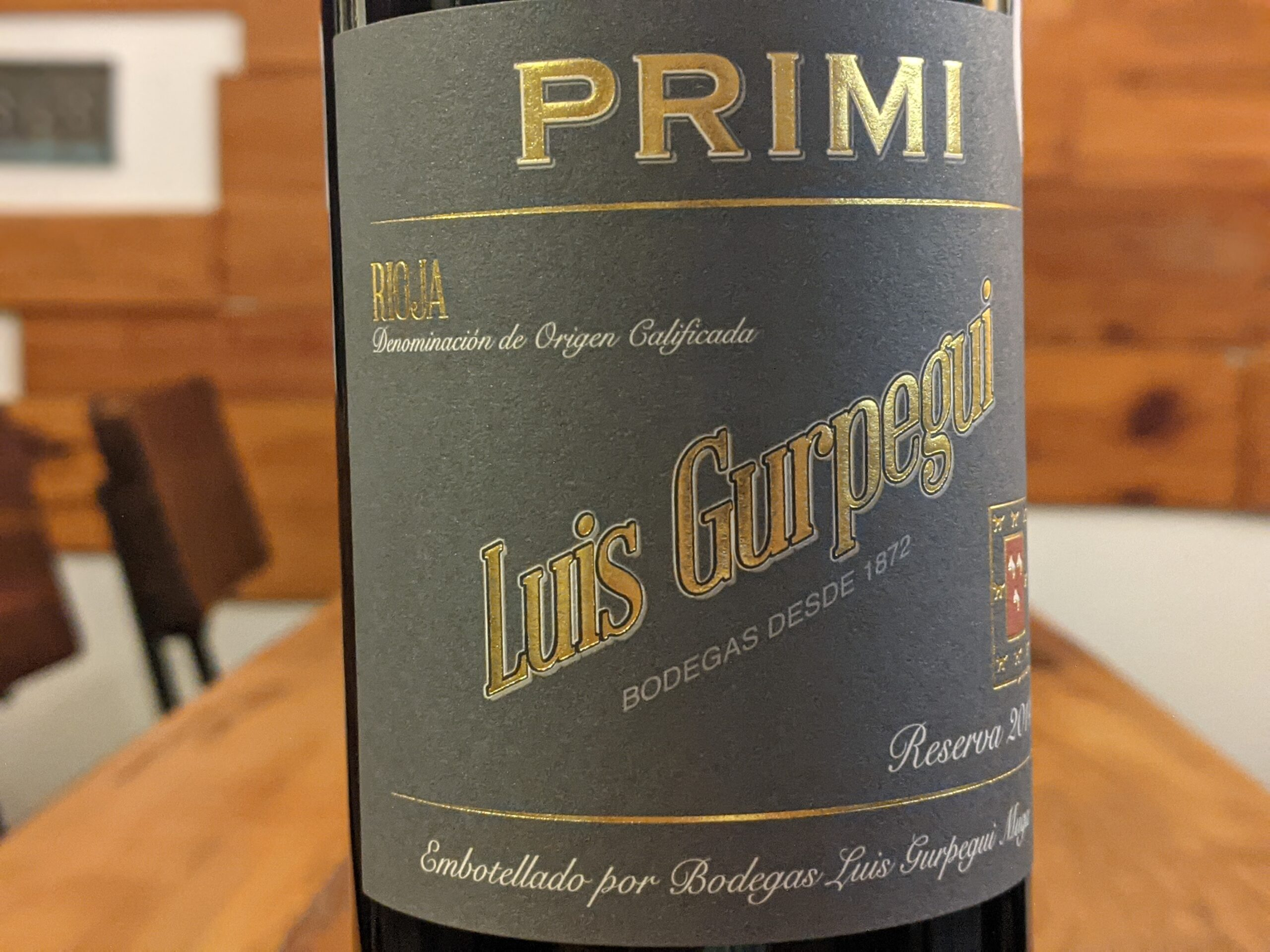 """Luis Gurpegui 2014 """"Primi """"Rioja Reserva"""