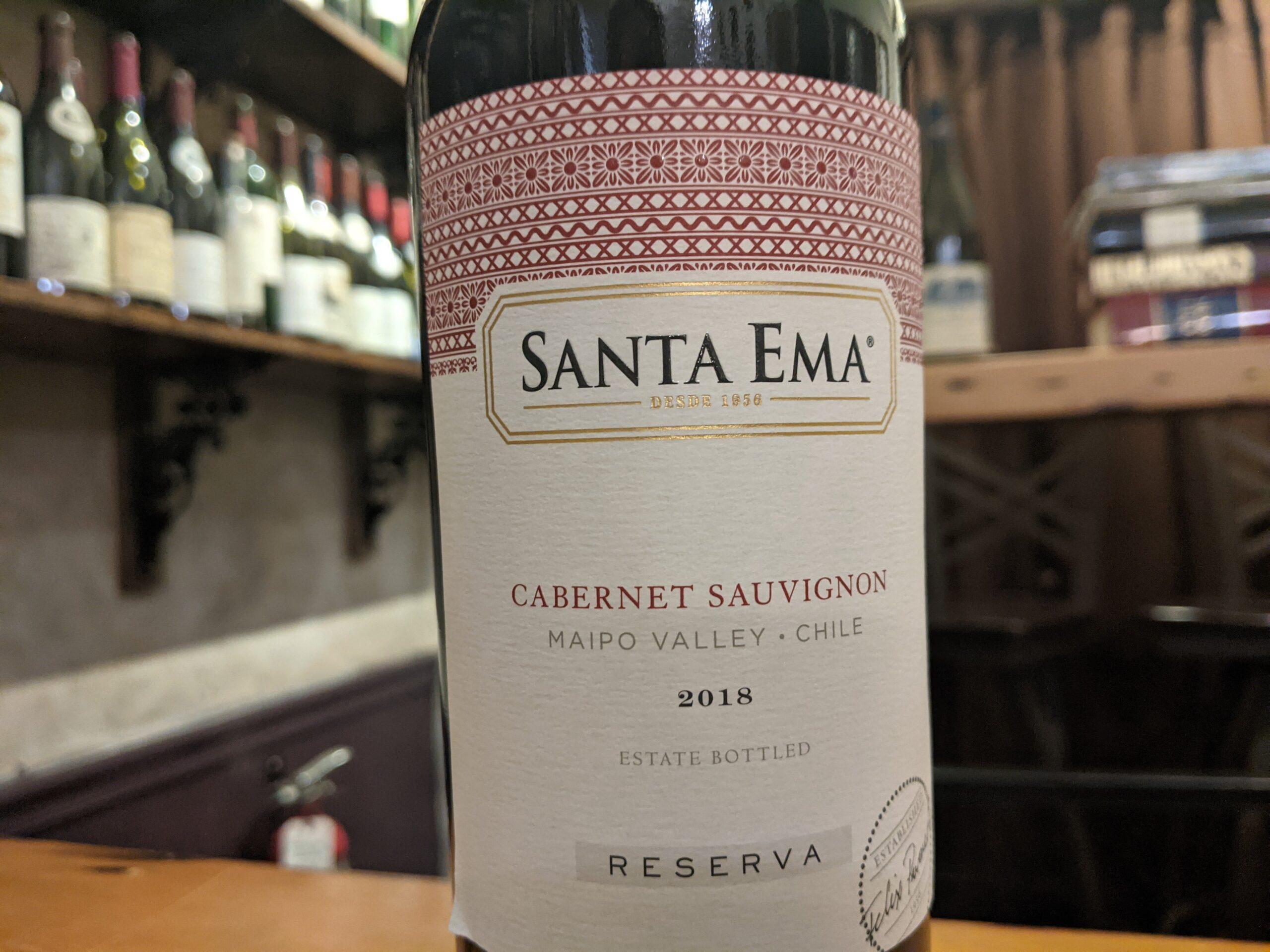 """Santa Ema 2018 """"Reserva"""" Cabernet Sauvignon Maipo Valley"""