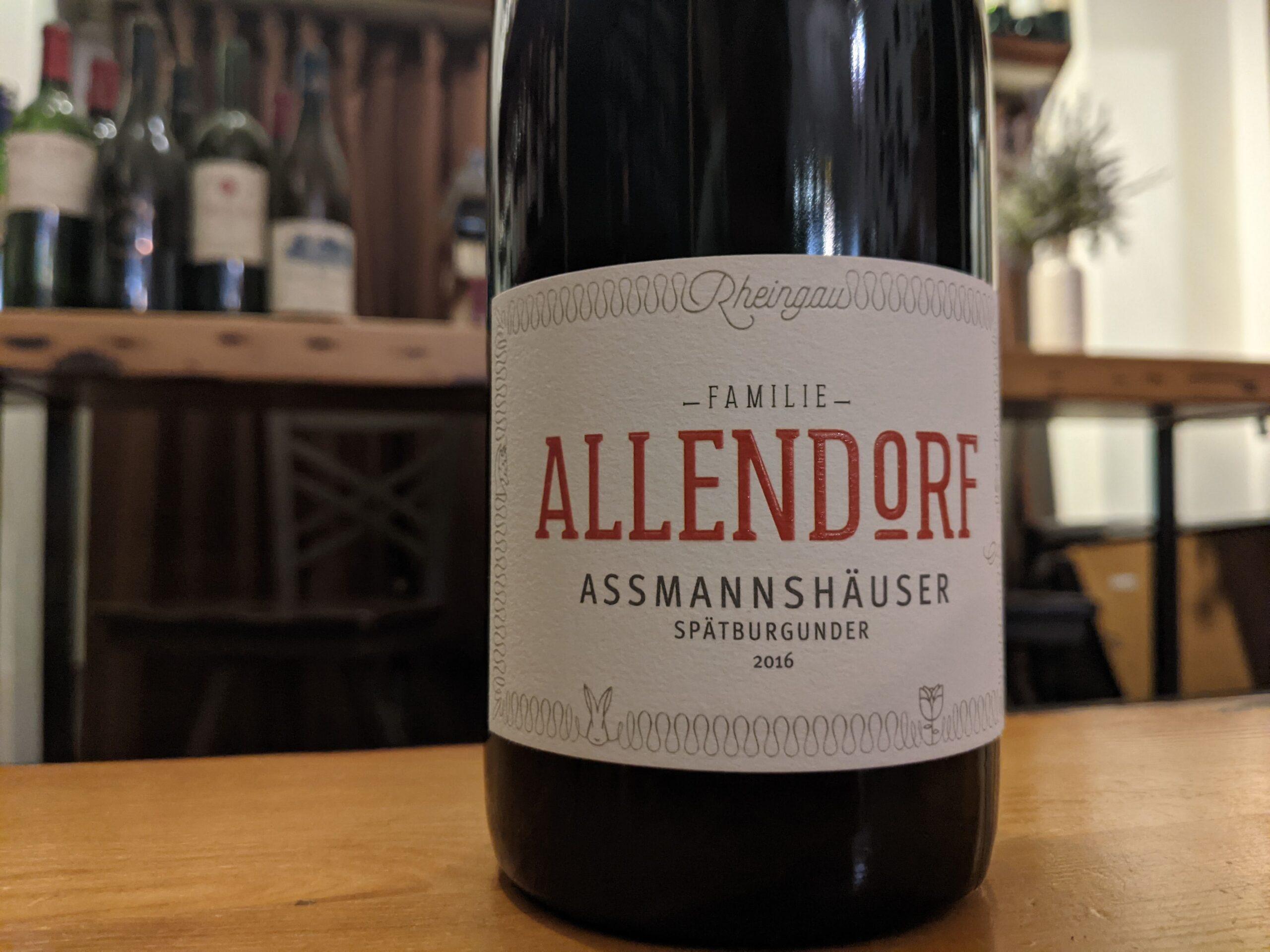 Fritz Allendorf 2016 Assmannshäuser Spätburgunder