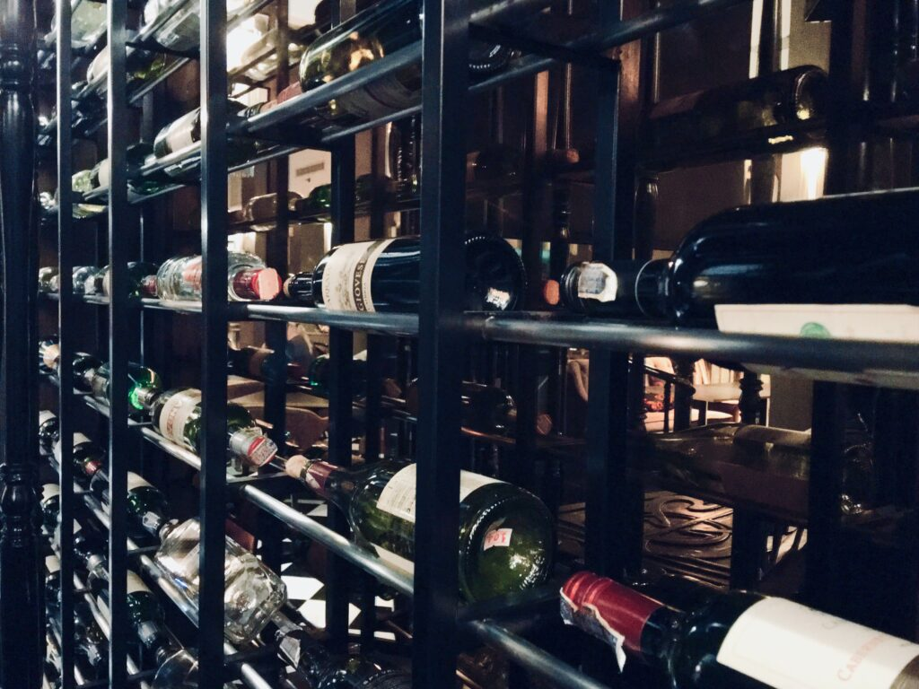 metal cage storage for bottles