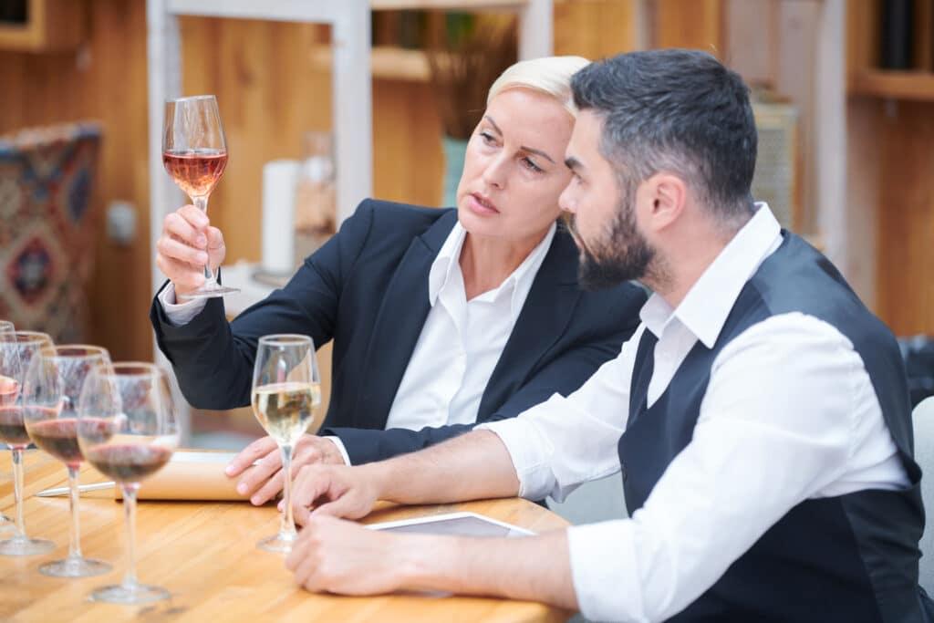 Wine tasting: See the wine